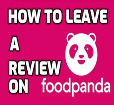 how to leave a review on foodpanda