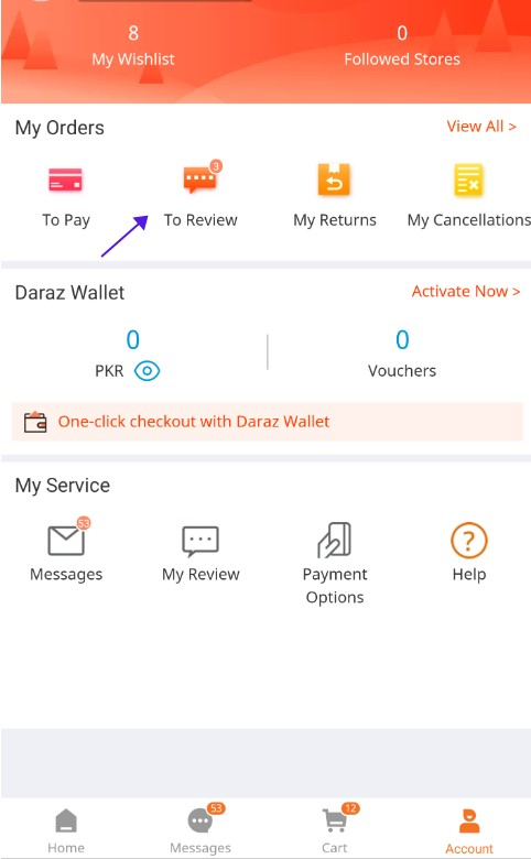 how-to-write-review-on-daraz-mobile-app