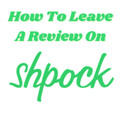 how to leave a review on shpock