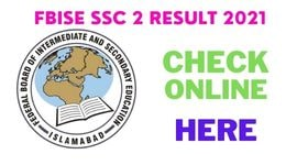 Federal Board Matric Result 2021 Check Online